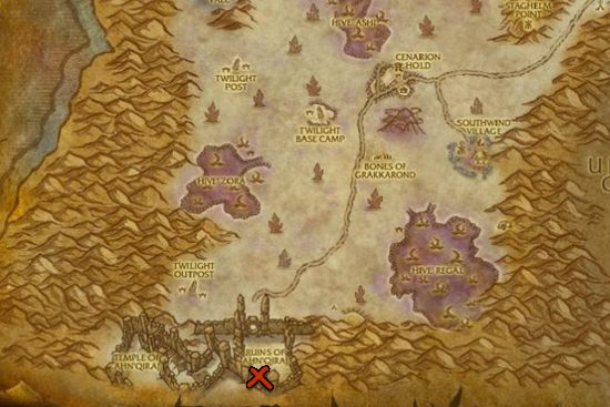 The Entrance To Ruins Of Ahn Qiraj Can Be Found At Silithus