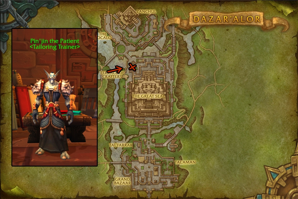 Battle for Azeroth Tailoring Guide - (Patch 8 2) - WoW