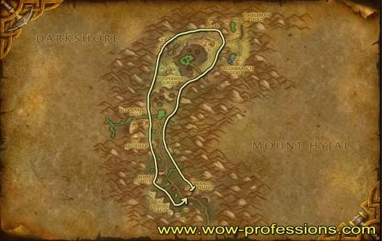 Felwood herbalism map