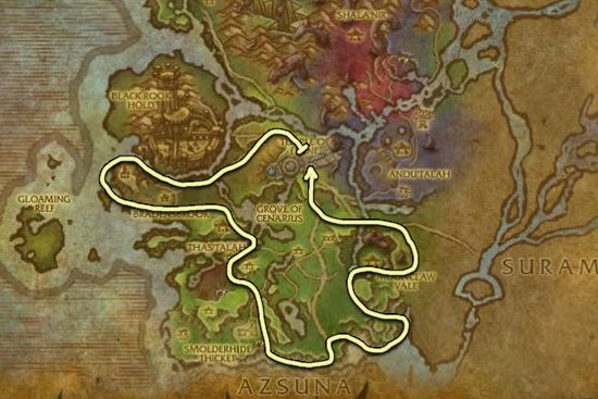 Leystone Ore Farming Guide WoWProfessions - Ore map