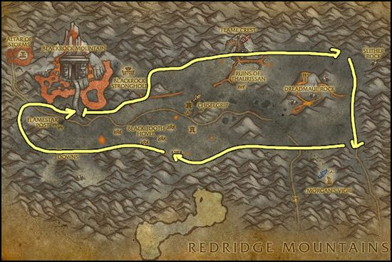 Mithril Ore Farming Best Places To Farm Mithril Ore WoW - Ore map