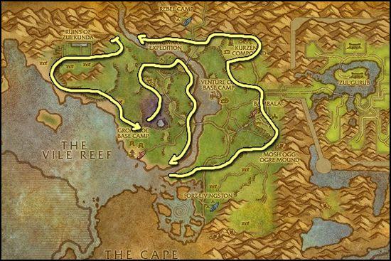 Tin Ore Farming Mining Tin Best Places To Farm Tin Ore WoW - Ore map
