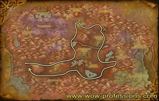 Eastern Plaguelands Herbalism map