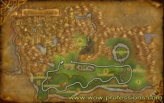 Elwynn Forest Herbalism map