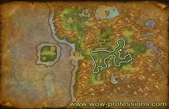 Feralas Herbalism map