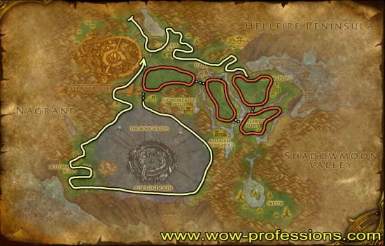 Terrokar Forest Herbalism map