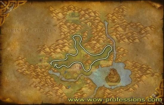 Western Plaguelands Herbalism map