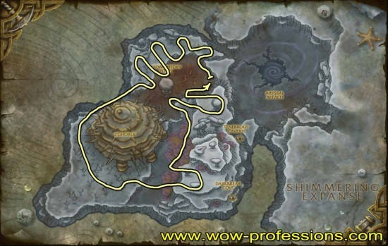 Vashj'ir Obsidium Mining map