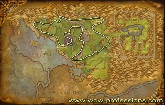 Northern Stranglethorn Mining Map