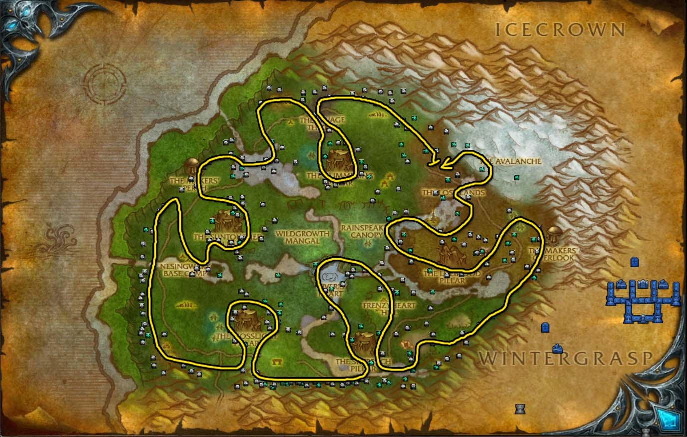 Mining ores in wow