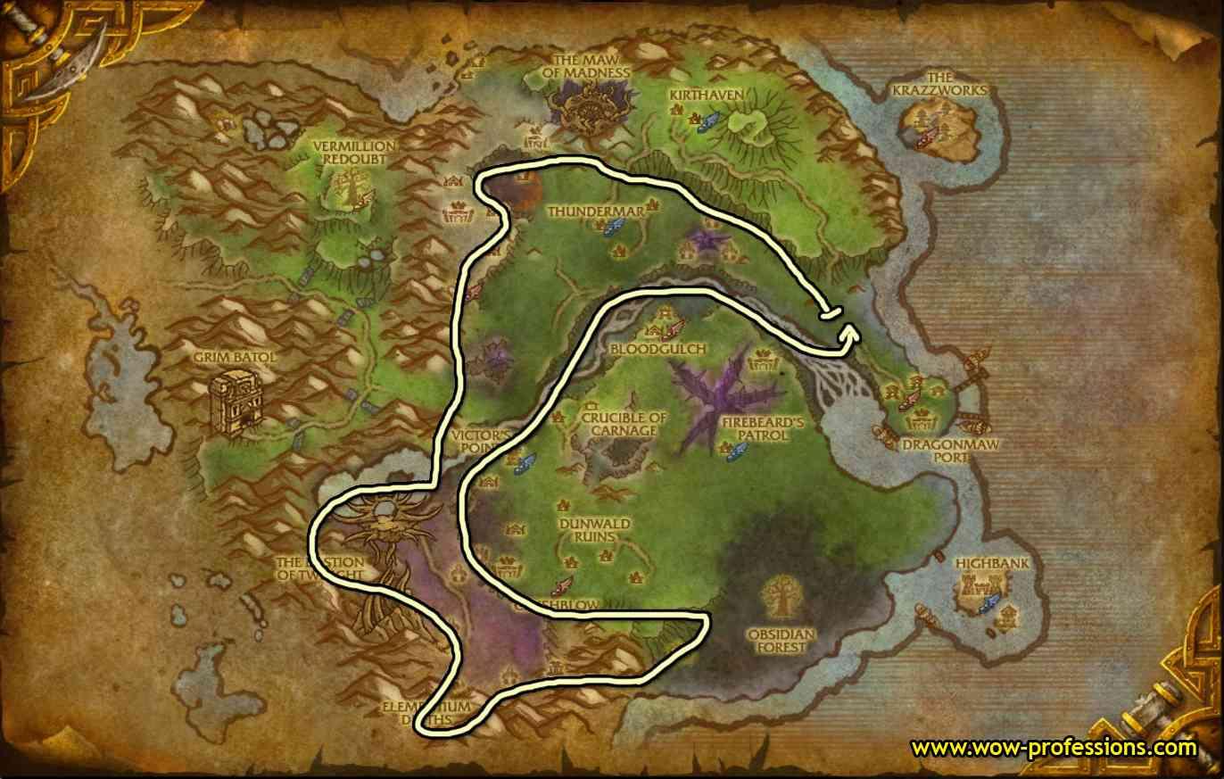 Twilight Highlands mining map