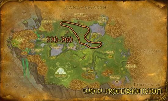 Nagrand skinning guide's map