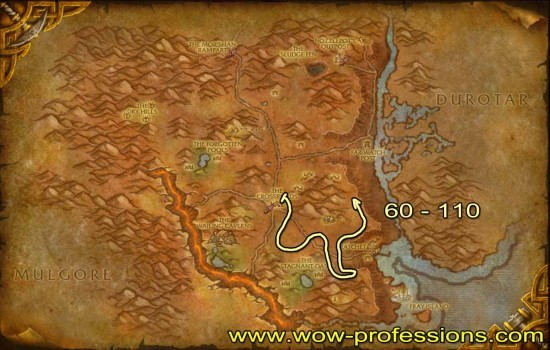 barrens Skinning map
