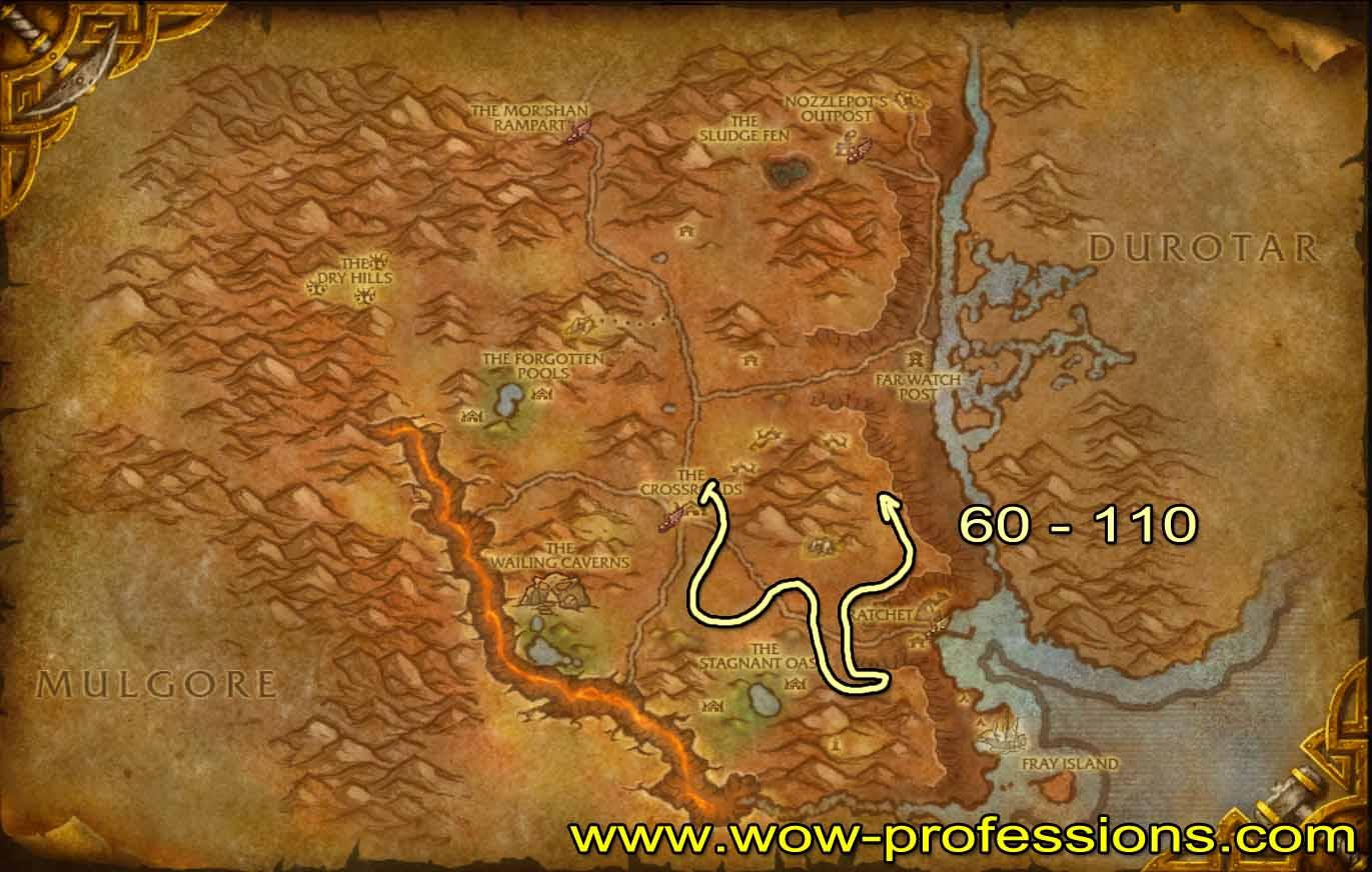 Guía de Desuello 1 -525 Barrens-skinning-map