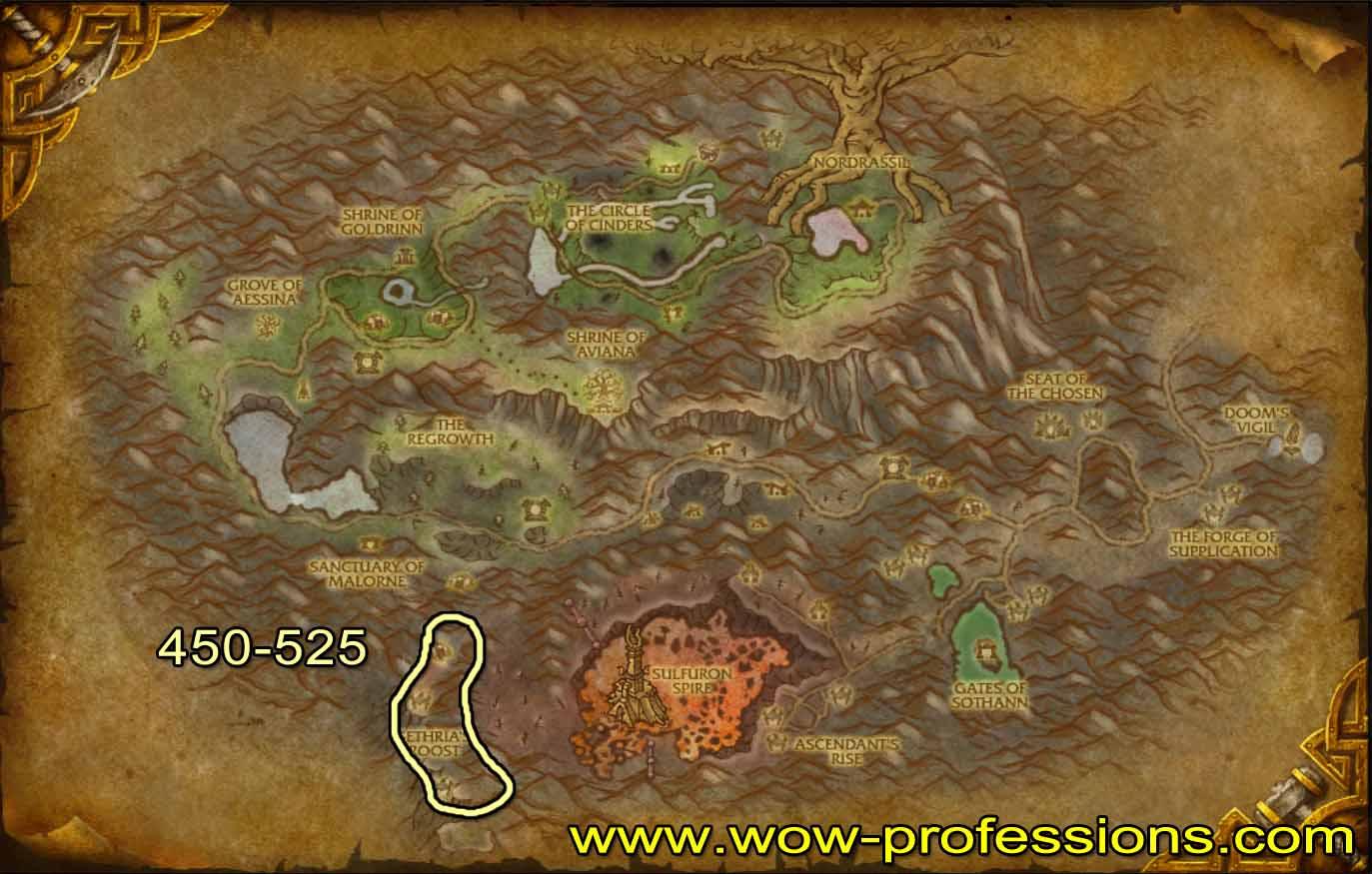Guía de Desuello 1 -525 Mount-hyal-skinning-map